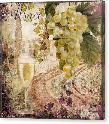 Pinot Noir Canvas Print - Wine Country Alsace by Mindy Sommers
