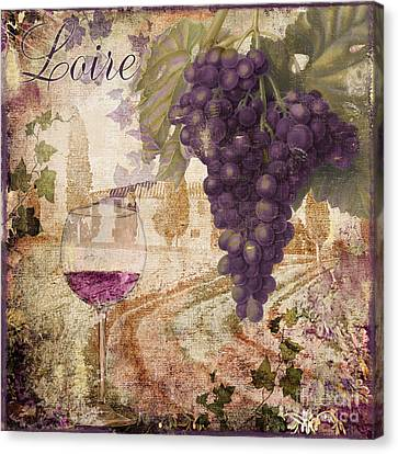 Glass Of Wine Canvas Print - Wine Country Loire by Mindy Sommers