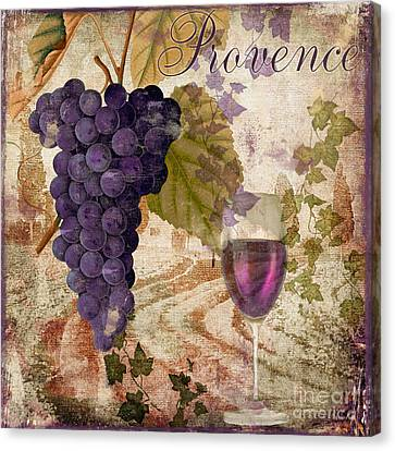 Wine Country Provence Canvas Print by Mindy Sommers