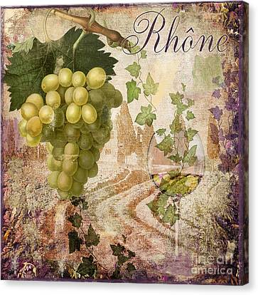 Glass Of Wine Canvas Print - Wine Country Rhone by Mindy Sommers