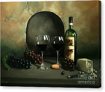 Grapes Canvas Print - Wine For Two by Paul Walsh