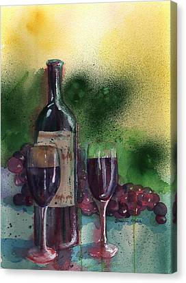 Wine For Two Canvas Print by Sharon Mick