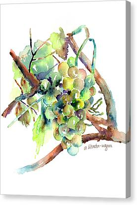 Wine Grapes Canvas Print by Arline Wagner