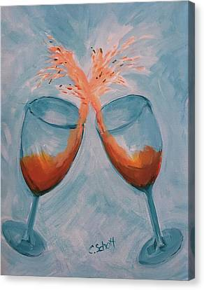 Wine In Motion Canvas Print