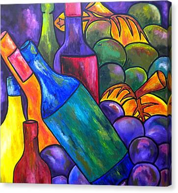 Wine In Purple Canvas Print