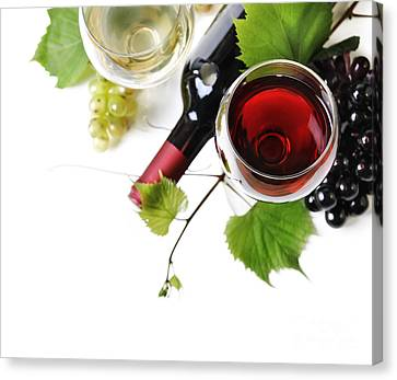 Pouring Wine Canvas Print - Wine by Jelena Jovanovic