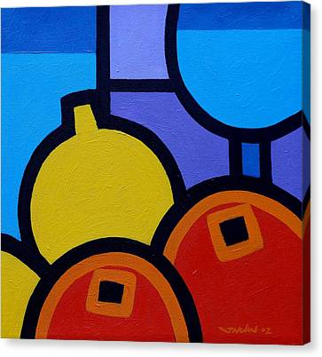 Wine Lemons Oranges Canvas Print by John  Nolan