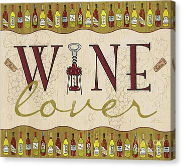 Wine Lover Canvas Print by Shari Warren
