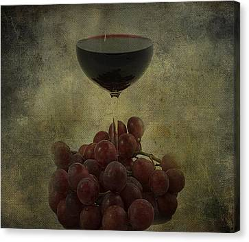 Wine Makes Me Fine Canvas Print by Empty Wall