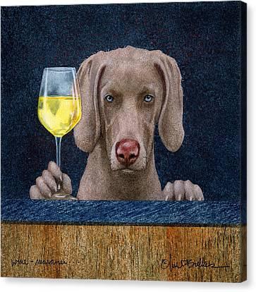 Weimaraner Canvas Print - Wine-maraner by Will Bullas