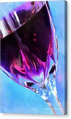 Wine O'clock Canvas Print by Krissy Katsimbras