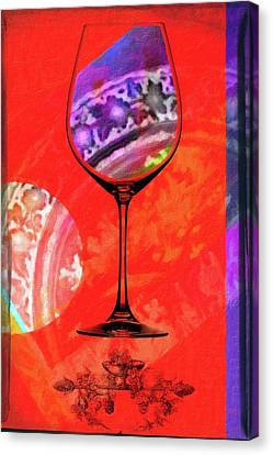 Wine Pairings 5 Canvas Print by Priscilla Huber