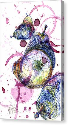 Wine Pearing Canvas Print by Ashley Kujan