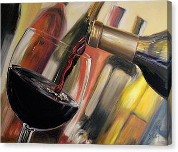 Wine Pour II Canvas Print by Donna Tuten