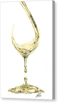 White Wine Pouring Canvas Print by Julie Senf