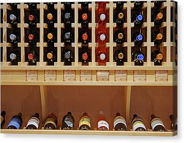 Wine Rack - 1 Canvas Print by Nikolyn McDonald