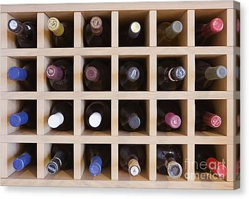 Wine Rack Canvas Print by Jeremy Woodhouse