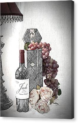 Canvas Print featuring the photograph Wine Tasting Evening by Sherry Hallemeier