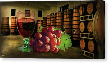 Canvas Print featuring the photograph Wine Tasting by Hanny Heim