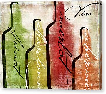 Wine Tasting I Canvas Print by Mindy Sommers