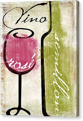 Wine Tasting Iv Canvas Print by Mindy Sommers