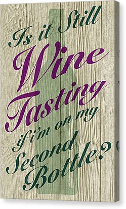 Tasting Canvas Print - Wine Tasting by WB Johnston