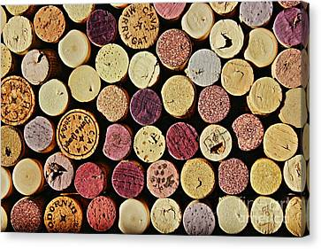 Wine Tops Canvas Print by Clare Bevan