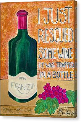 Wine Trapped In A Bottle Canvas Print