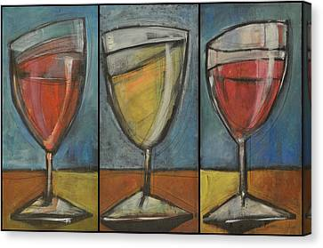 Wine Trio - Option One Canvas Print