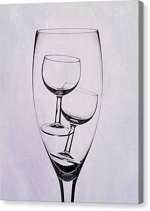 Wine Glasses Canvas Print - Wineglass Trio by Tom Mc Nemar