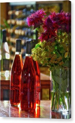 Winery Anyela's Vineyard Skaneateles New York Wine Bottles Pa 02 Canvas Print by Thomas Woolworth