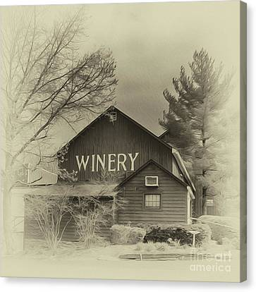 Winery In Sepia Canvas Print by Tom Gari Gallery-Three-Photography
