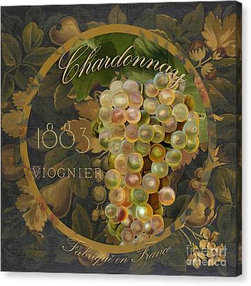 Wines Of France Chardonnay Canvas Print by Mindy Sommers