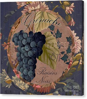 Wines Of France Grenache Canvas Print by Mindy Sommers