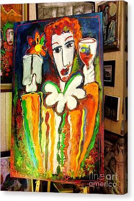 Winesnob Canvas Print by Laurens  Barnard