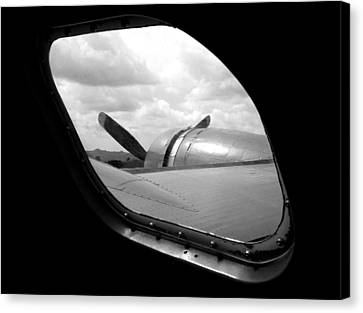 Wing And Window Canvas Print by Dan Holm