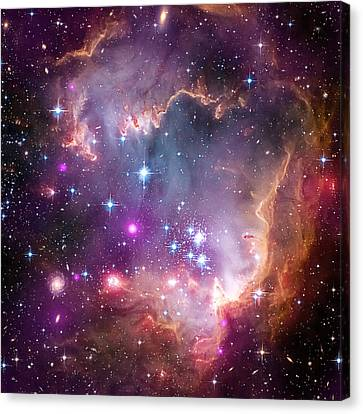 X-rays Of Canvas Print - Wing Of The Small Magellanic Cloud by Mark Kiver