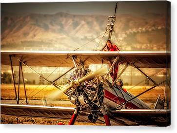 Canvas Print featuring the photograph Wing Walker by Steve Benefiel