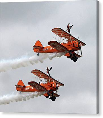Wing Walkers In The Clouds Canvas Print