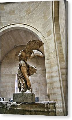 Winged Color Samothrace  Canvas Print by Chuck Kuhn
