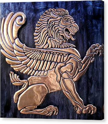 Winged Lion Canvas Print by Cacaio Tavares