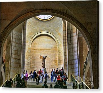 Winged Samothrace Louvre  Canvas Print by Chuck Kuhn