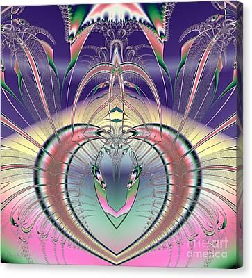 Winged Soul Flying Heavenward Fractal Canvas Print