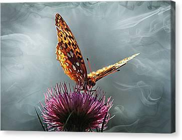 Canvas Print featuring the photograph Winged Things by Jessica Brawley