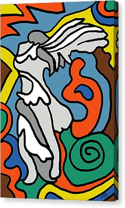 Winged Victory Imagined Canvas Print by Linda Mears