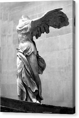 Winged Victory Paris France Louvre Gallery Canvas Print by Richard Singleton