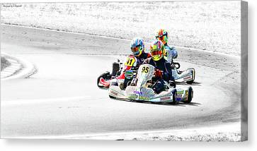 Wingham Go Karts 04 Canvas Print by Kevin Chippindall