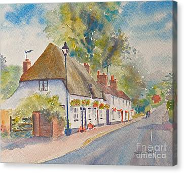 Canvas Print featuring the painting Wingham Nr.canterbury by Beatrice Cloake