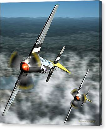 Wingman Canvas Print by Jim Coe