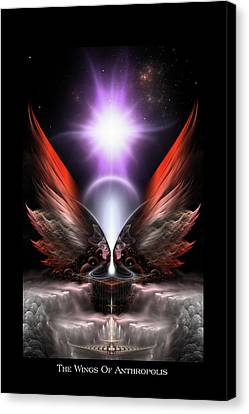 Wings Of Anthropolis Hc Fractal Composition Canvas Print